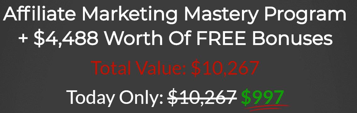 Affiliate Marketing Mastery Price