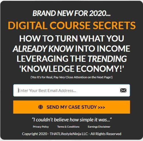 Digital Course Registration form