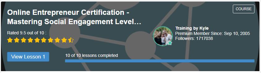 Online Entrepreneur Certification - Mastering Social Engagement Level 4