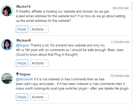 Wealthy Affiliate - Live Chat